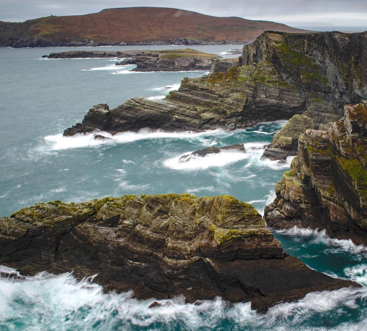 Irlands vindpinade landskap