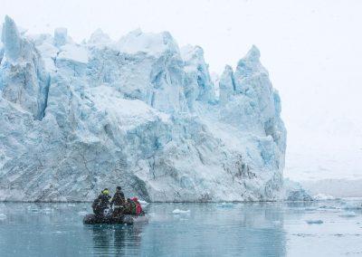 Glaciär i Svalbard