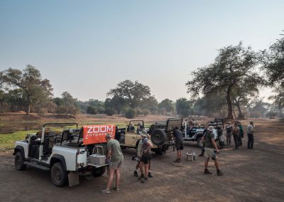 Kaffepaus under safari i Mana Pools