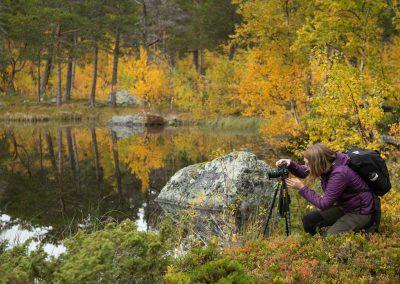 Fotograf i Laponia