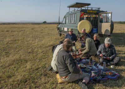 Lunchpaus i Kenya