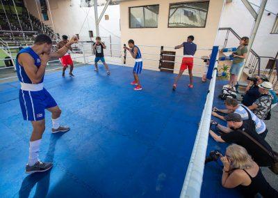 Boxningsträning i Havanna