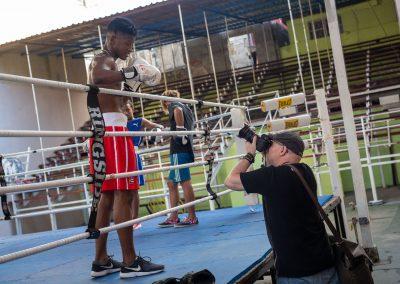 Lokala boxningsgymmet i Havanna