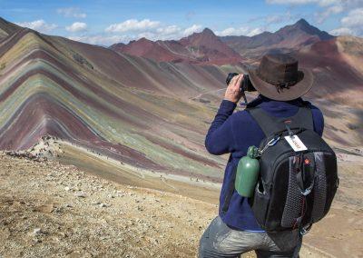 5 200m, toppen av Rainbow Mountain, Peru
