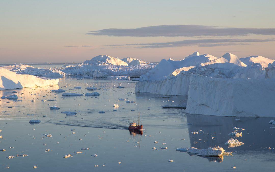 Grönlands Mäktiga Isberg
